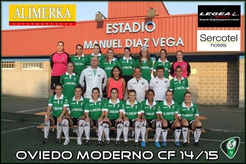Foto de la plantilla del Club de Fútbol Oviedo Moderno Universidad