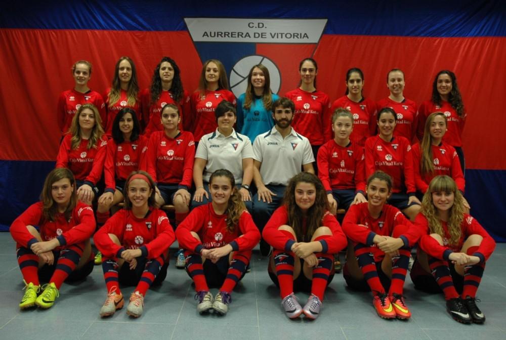 Foto de la plantilla del Club Deportivo Aurrera de Vitoria B