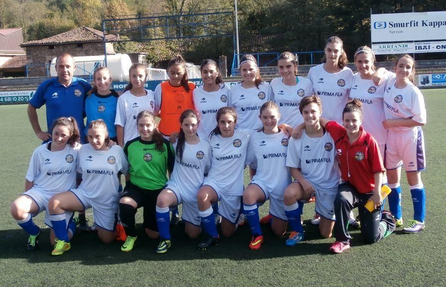 Foto de la plantilla del Erandioko Betiko Neskak Futbol Kirol Elkartea (Cadete)
