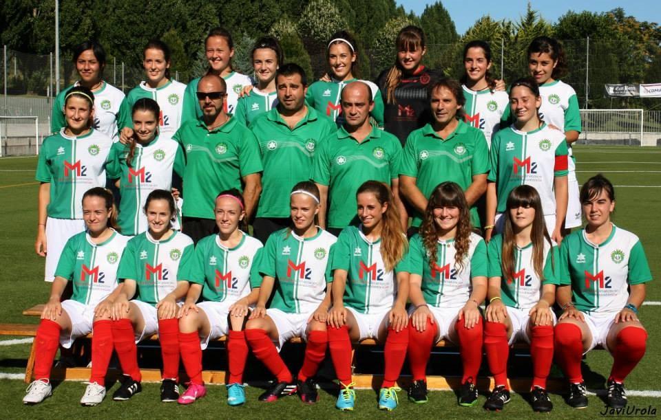 Foto de la plantilla del Club de Fútbol Gazte Berriak