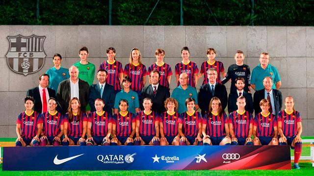 Foto de la plantilla del Fútbol Club Barcelona