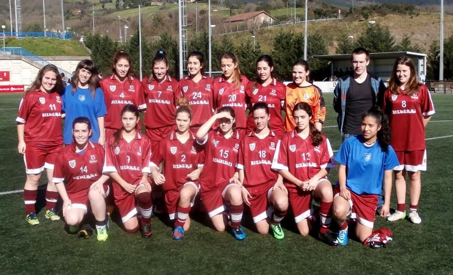 Foto de la plantilla del Bizkerre Futbol Taldea